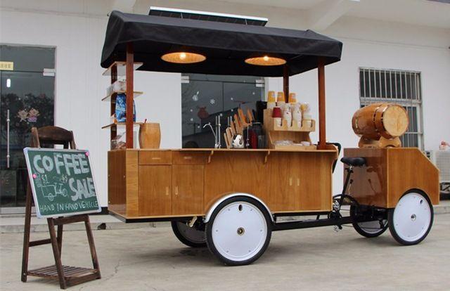 Source Hot Sale Fast Food Tricycle Coffee Vending Cart Coffee Bike