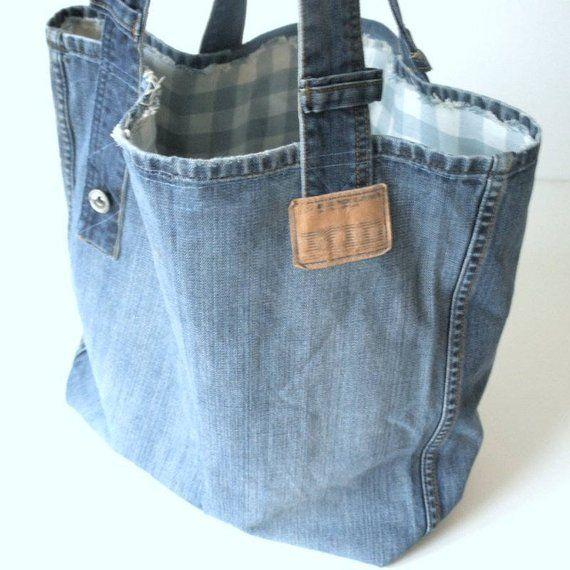 Sac en jeans, sac denim, sac en jeans, sac de plage, sac en toile, cabas denim, sac shopping, shopper, sac à main, sac, épaule