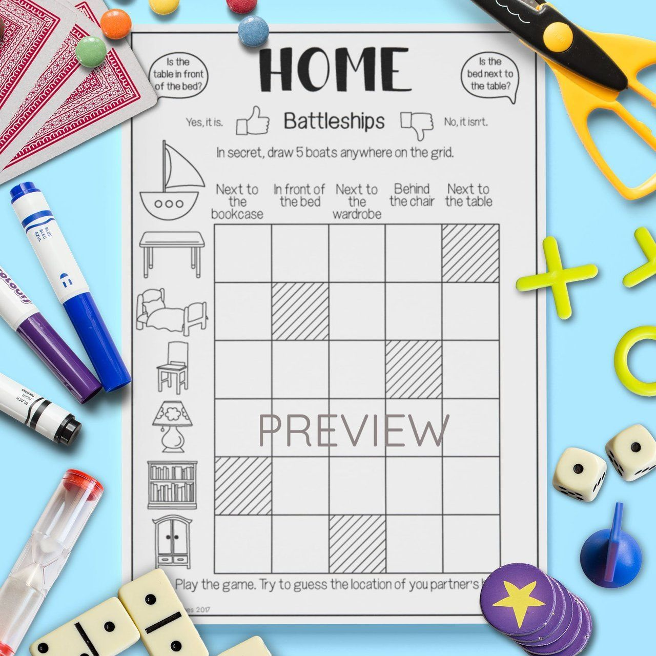 Home 'Battleships' Game Освіта, Граматика