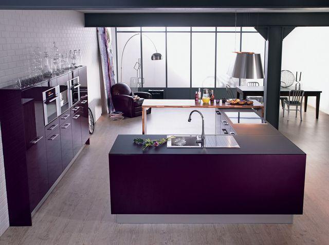Cuisine îlot central  12 photos de cuisinistes Stainless steel - Plan De Cuisine Moderne Avec Ilot Central