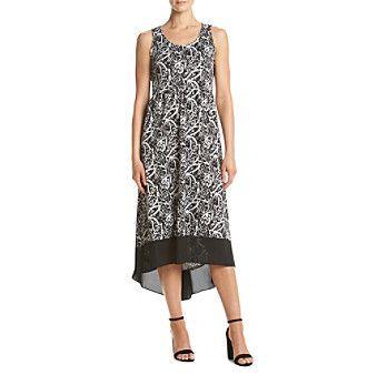 Studio Works® Scoop Neck High Low Dress