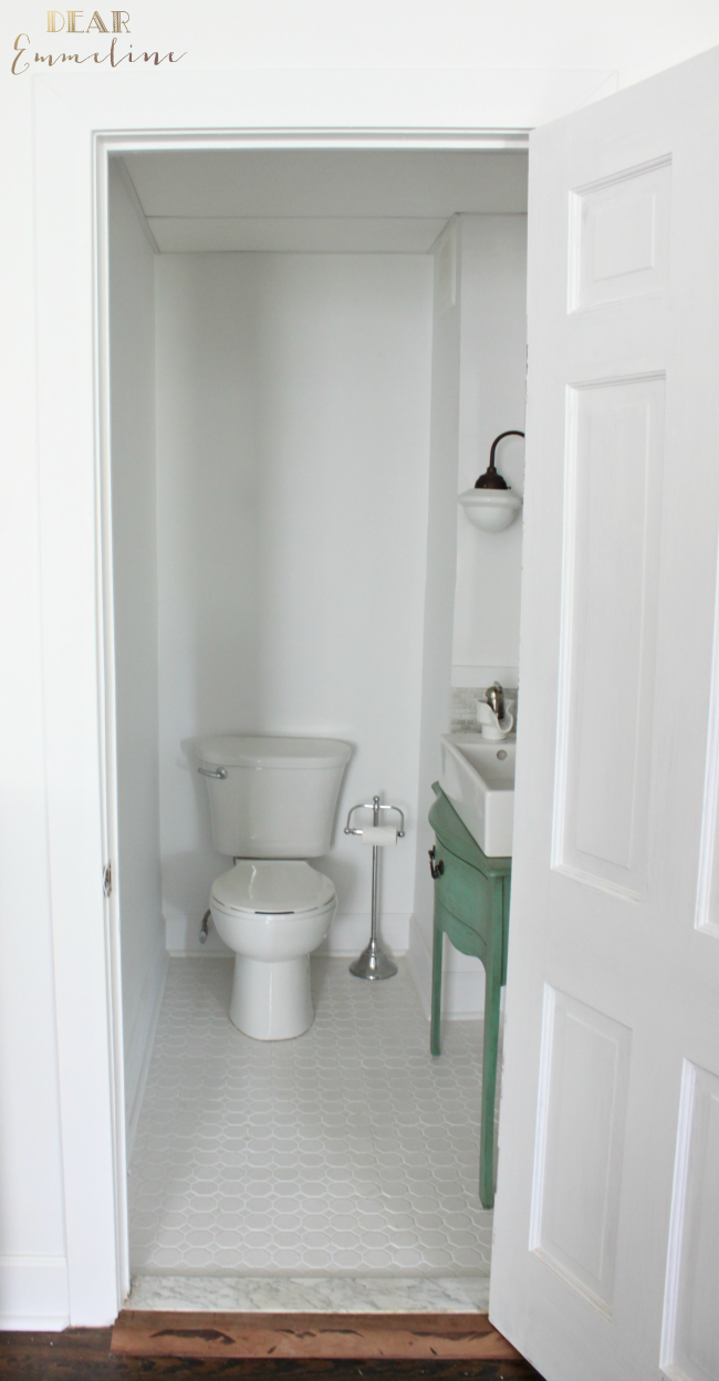Half Bathroom Design Ideas Custom Our Narrow Half Bathroom Renovation Is Done Anddone I Mean Decorating Design