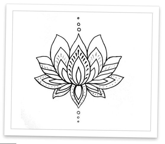 Lotus Flower Hot Tattoo Flower Tattoo Lotus Flower Drawing Pattern Tattoo