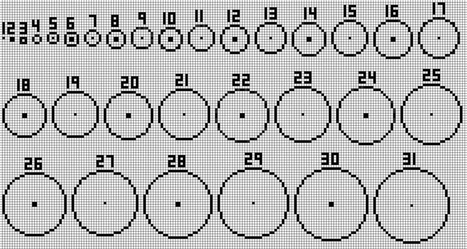 Minecraft Perfect Circle Guide Minecraft Circle Chart Minecraft
