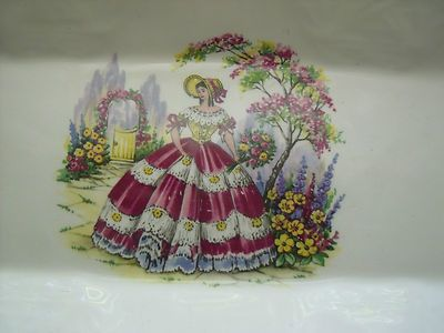 Lovely vintage serving tray..Southern Belle