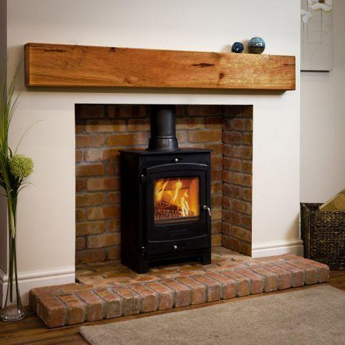 Rustic Oak Beam Mantel Shelf Log Burner Living Room Oak Fireplace Fireplace Design