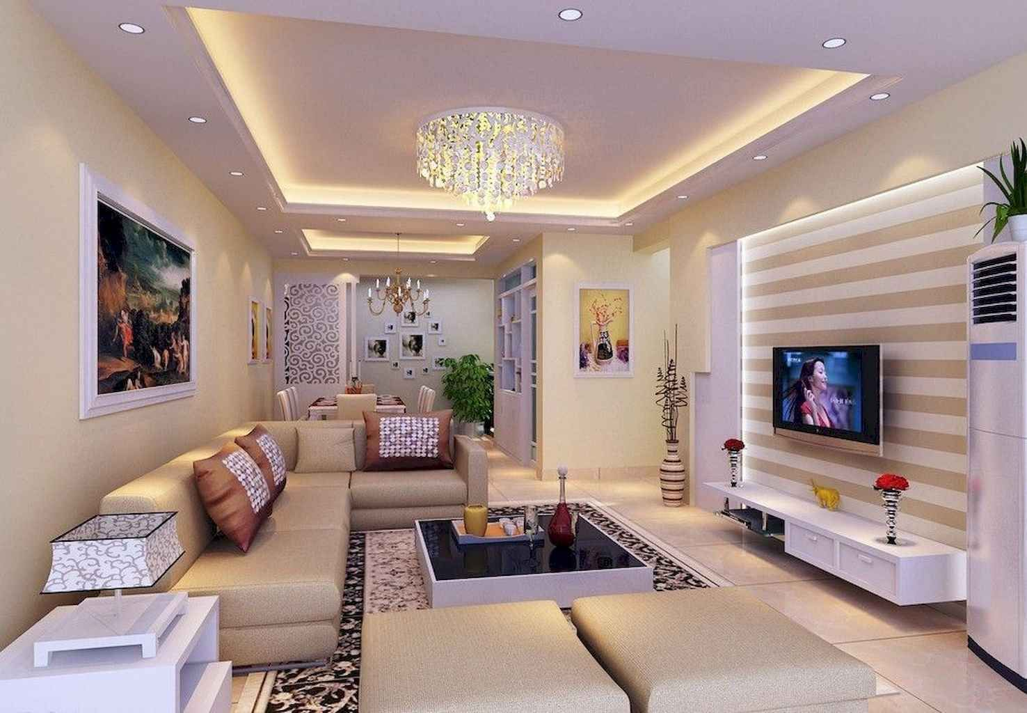 02 Cozy Small Living Room Decor Ideas On A Budget In 2020 Ceiling Design Living Room Simple Ceiling Design Living Room Ceiling