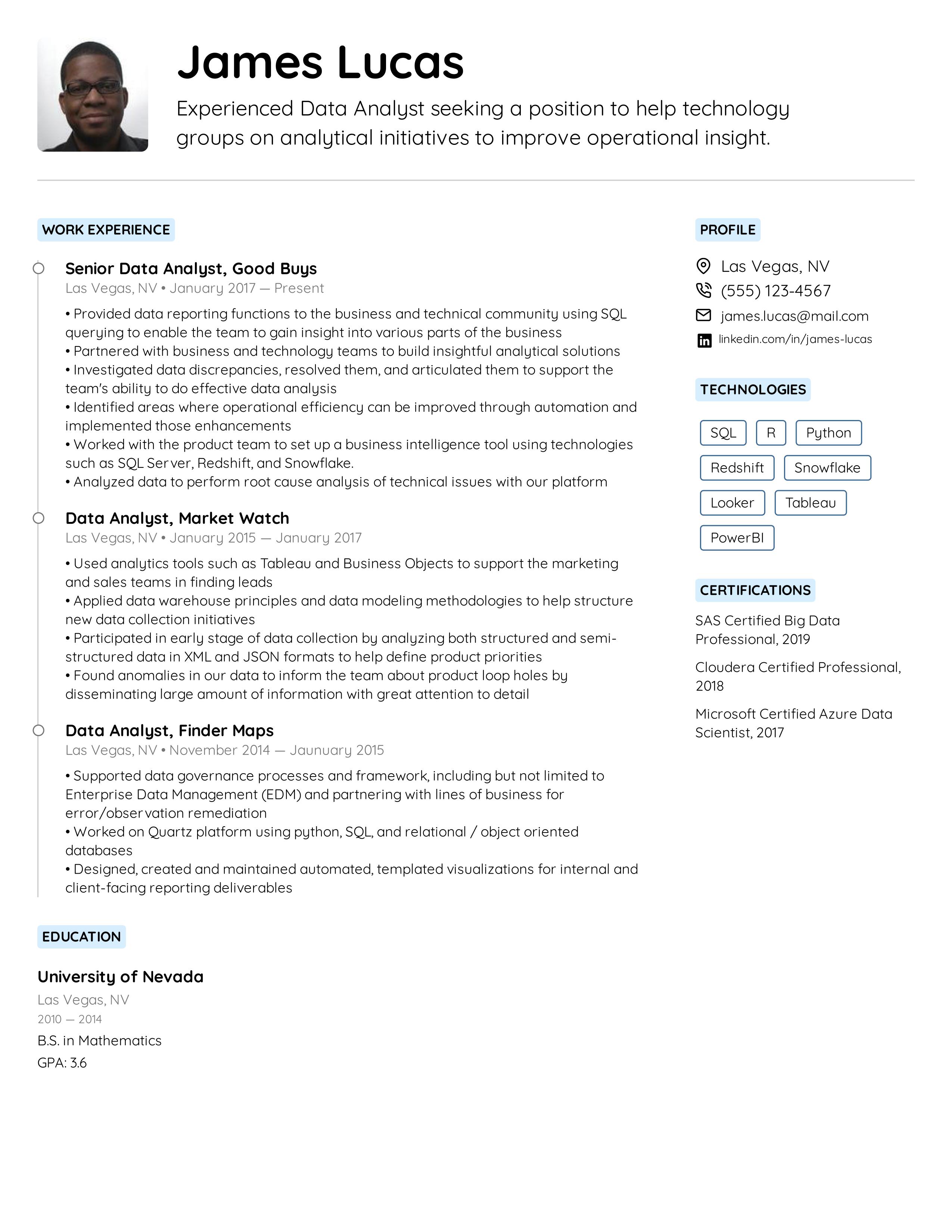 Data Analyst Resume Example Business Analyst Resume Data Analyst Free Resume Template Word