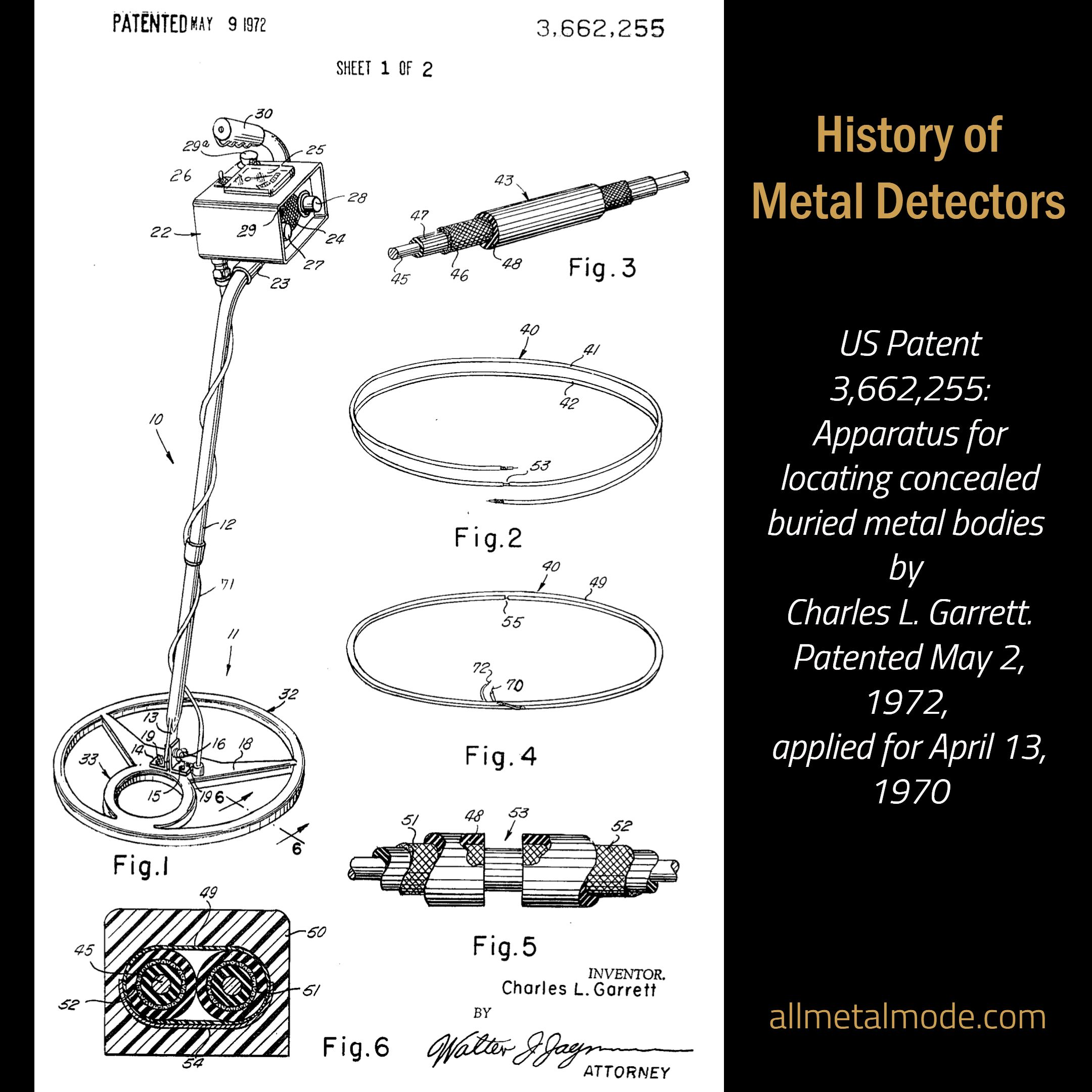 Us Patent 3 662 255 Apparatus For Locating Concealed