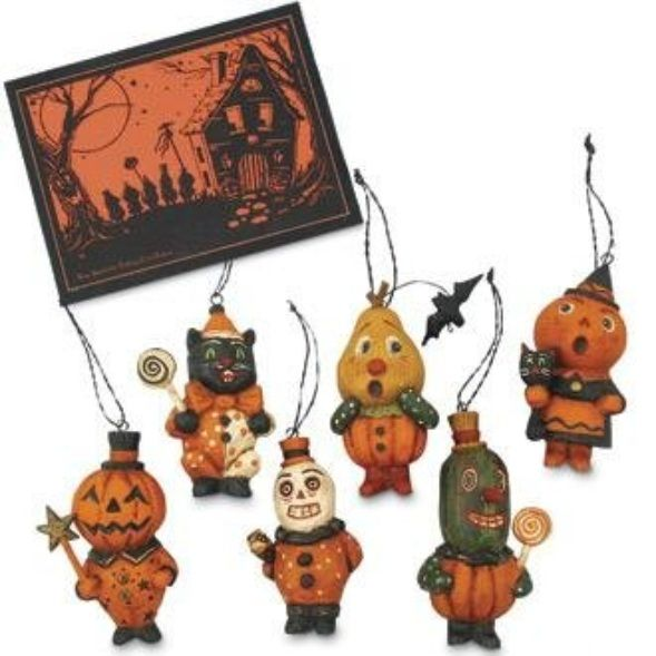 """Haunted House Party"" Boxed Halloween Ornament Set"