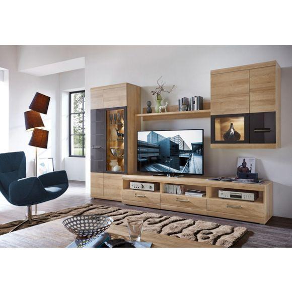wohnwand mit led beleuchtung f r ein stilvolles einrichtungskonzept wohnw nde pinterest. Black Bedroom Furniture Sets. Home Design Ideas