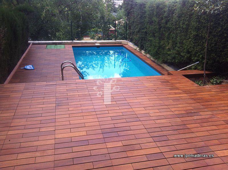 Tarima para piscinas ipe maderas piscinas pinterest for Tarima piscina