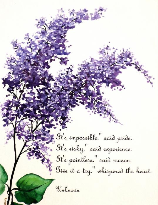 Lilacs Painting Lilac Poem Painting By Karin Best