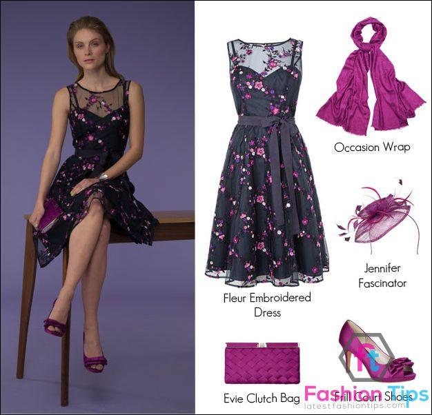 Purple Summer Wedding Guest Dress