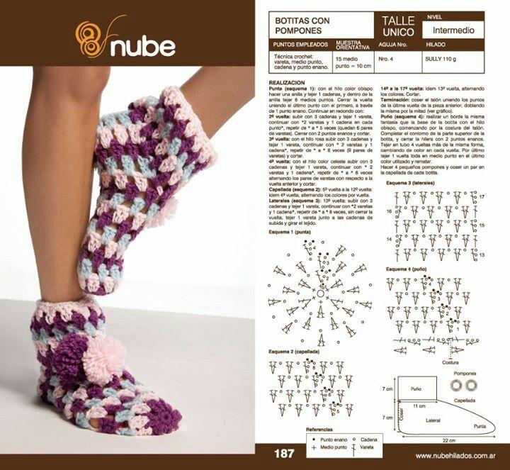 Medias | Crochet indumentaria | Pinterest | Medias