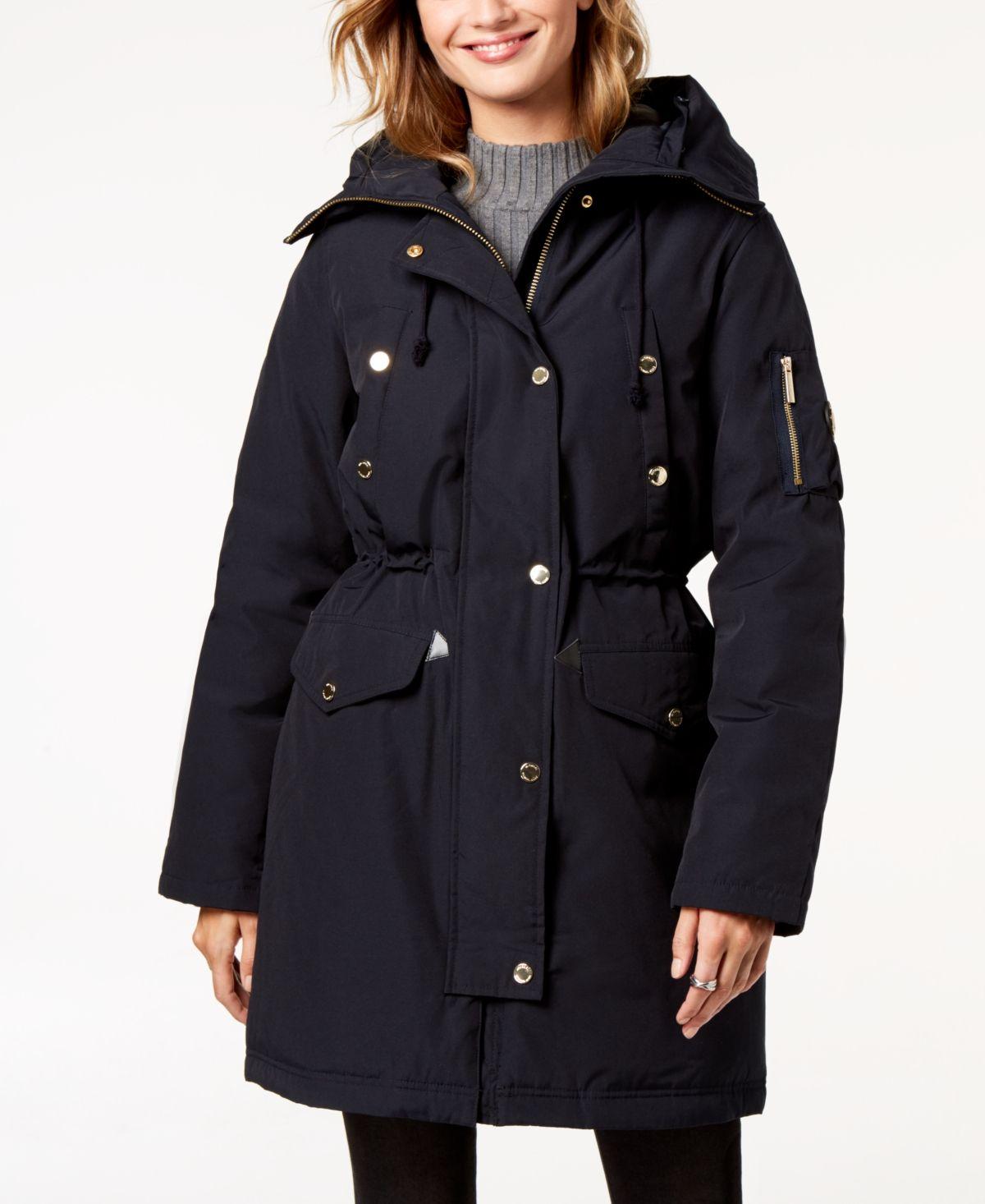 Michael Michael Kors Faux-Fur-Trim Hooded Down Parka Coat ...