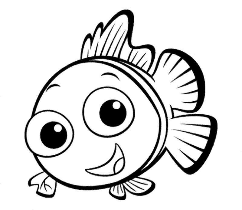 Fish Color Sheet Nemo Fish Coloring Page Cartoon Coloring Pages Cute Coloring Pages