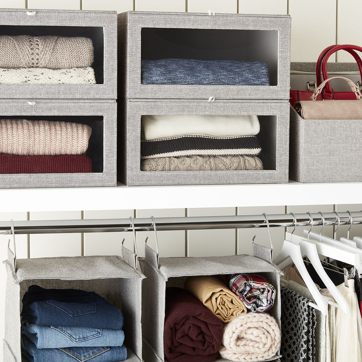 Cute And Stylish Ways To Keep Your Sweaters Organized Storage Closet Organization Closet Organization Bins Closet Built Ins