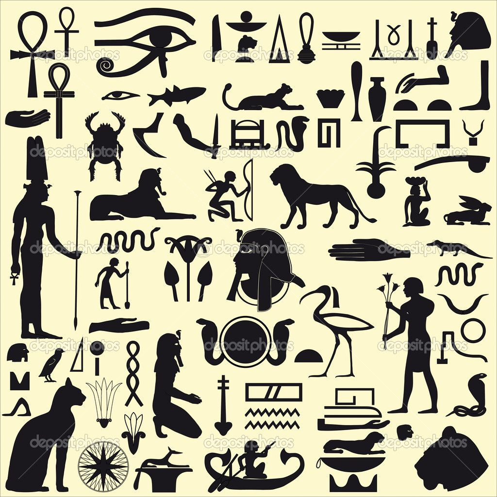 Egyptian symbols and signs set 1 stock illustration tattoos ancient egyptian tattoo ideas outline eye of horus eye of ra bastet pharaoh cat lion biocorpaavc