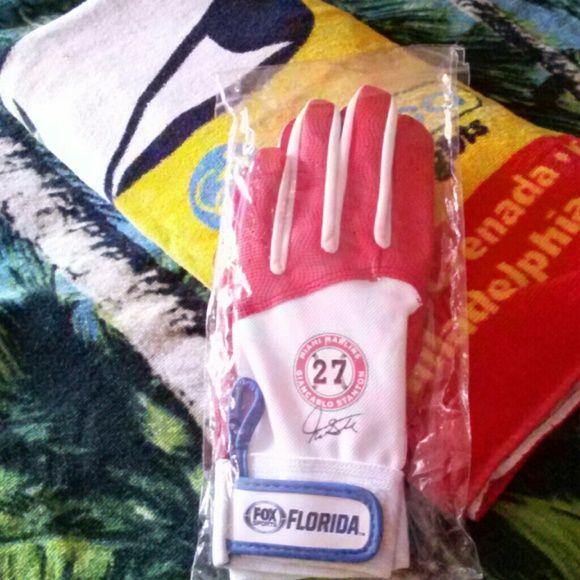 Gloves Miami Marlins Giancarlo Stanton Other