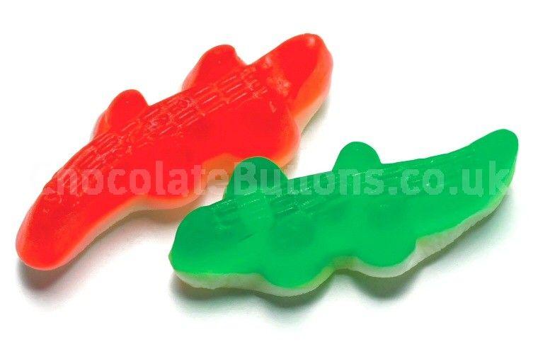 Haribo Crocodiles - available on www.chocolatebuttons.co.uk