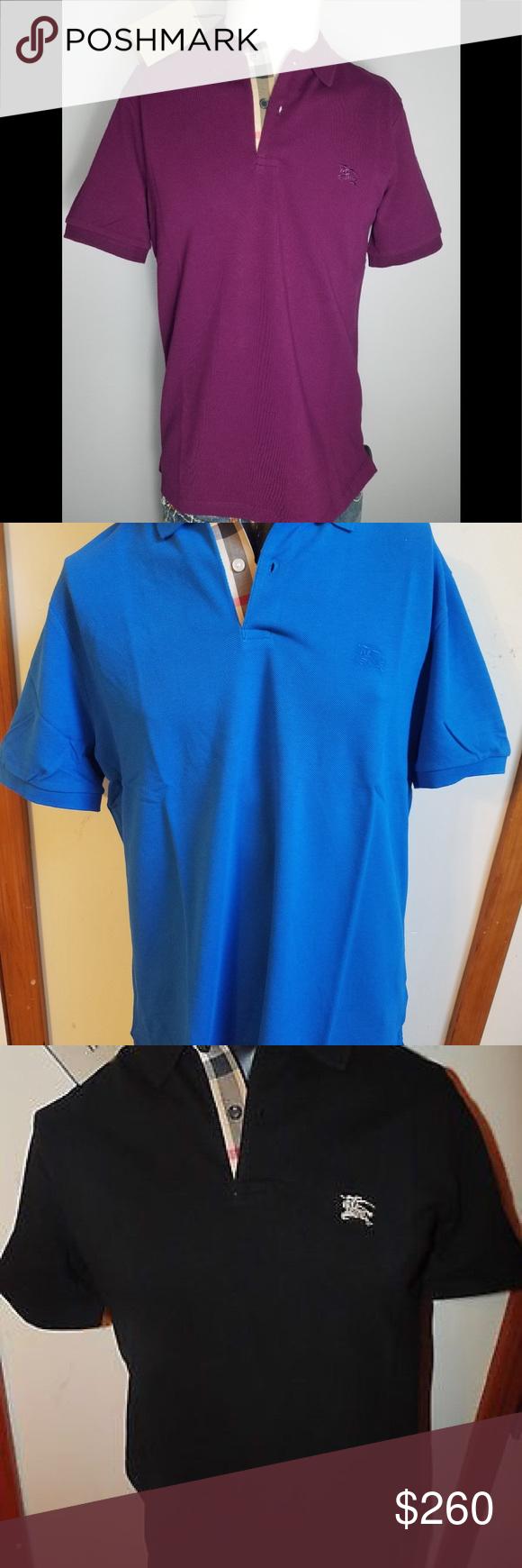 Burberry check polo shirt lot of 4 size 2xl Burberry check polo shirt lot  of 4. A purple,a blue one,a black one and a white all size 2xl Burberry  Shirts ... 869697da5f3a