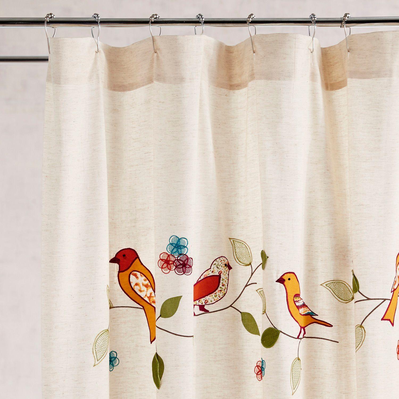 Birds On A Branch Shower Curtain Bird Shower Curtain Bird
