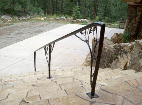 Best Metal Walkway Railing Wrought Iron Railing Custom 400 x 300