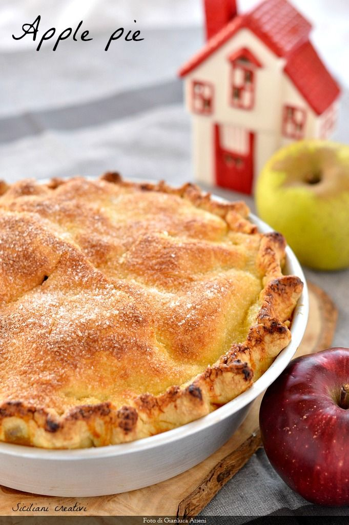 Ricetta Torta Di Mele Americana.Apple Pie Torta Di Mele Americana Ricetta Ricette Idee Alimentari Dolci