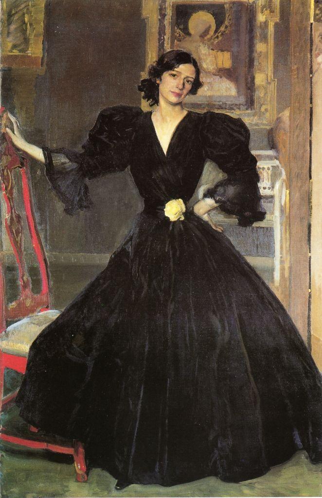The Athenaeum - Señora de Sorolla (Clotilde Garcia del Castillo, 1865-1929) in Black (Joaquin Sorolla y Bastida - )