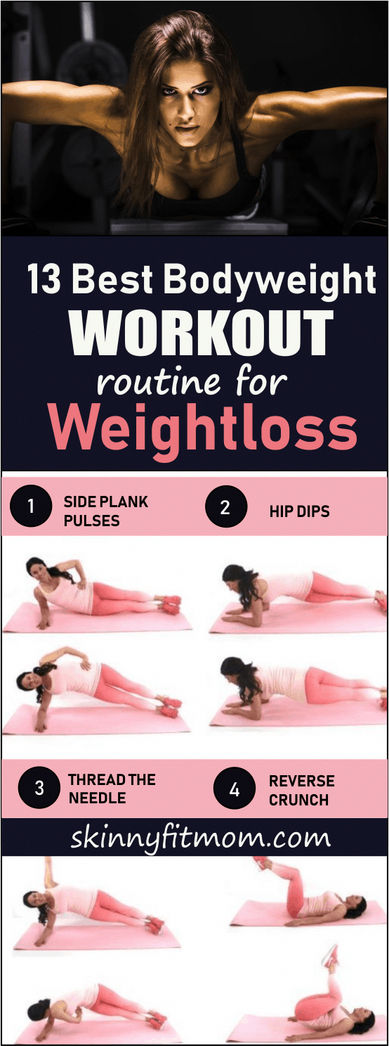 13 Best Bodyweight Workout Routine For Weight Loss | Target your arms, legs, core, upper body, abs,...