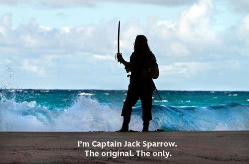 Piratas del Caribe. Soy el capitán Jack Sparrow, el original, el único