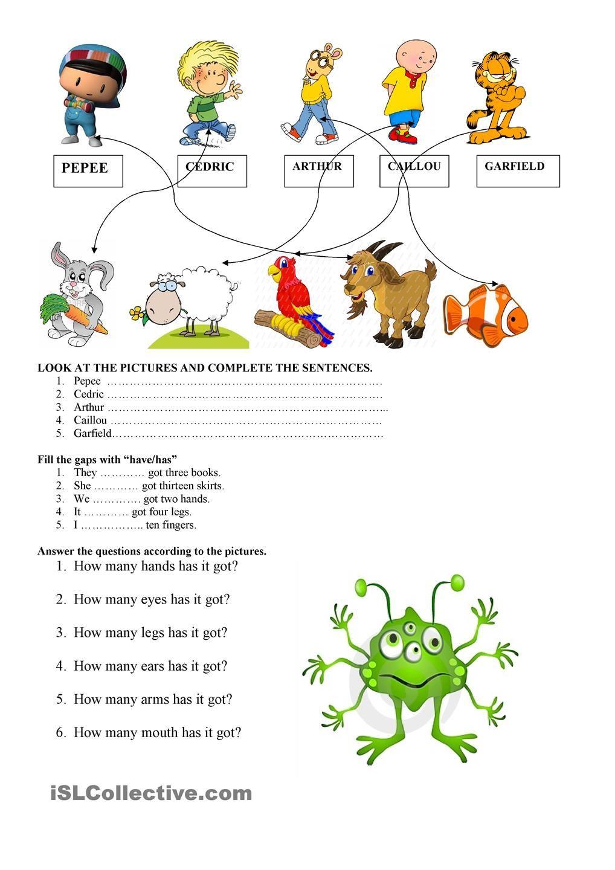 have got/ has got | ingles_aldana | Teaching english ...
