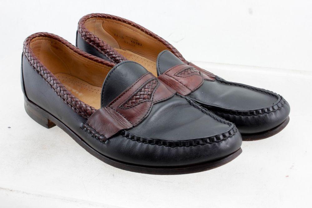 0f8e6da515d Allen Edmonds Newcastle Men s Black W Brown Leather Slip On Loafers Size  11.5 B  AllenEdmonds  LoafersSlipOns  Formal