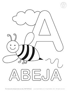 spanish alphabet coloring pages - spanish alphabet coloring pages mr printables language