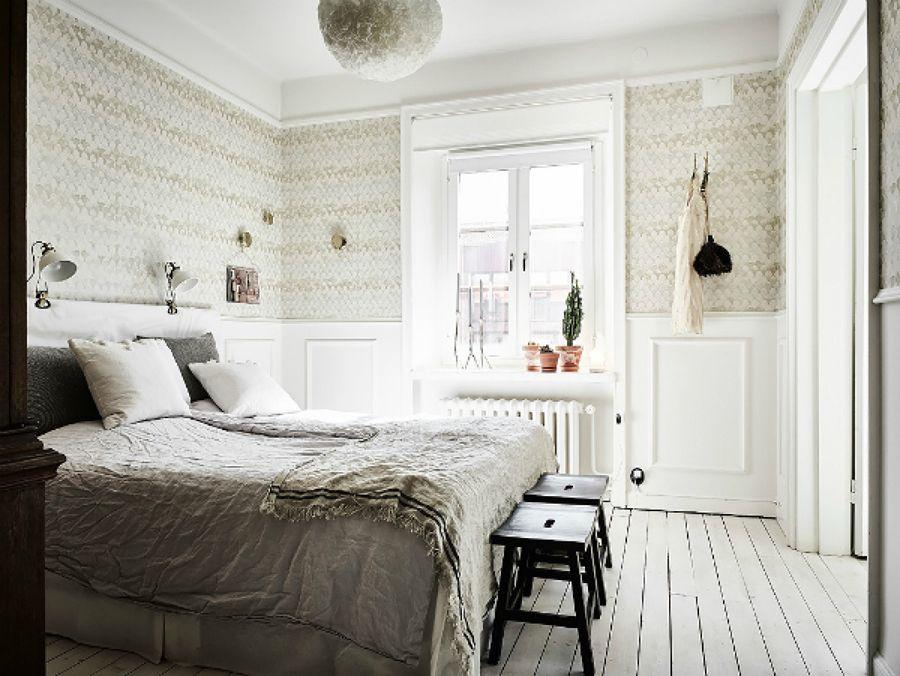 Dormitorio en toqnos beiges / comedor estilo nórdico / el piso de ...