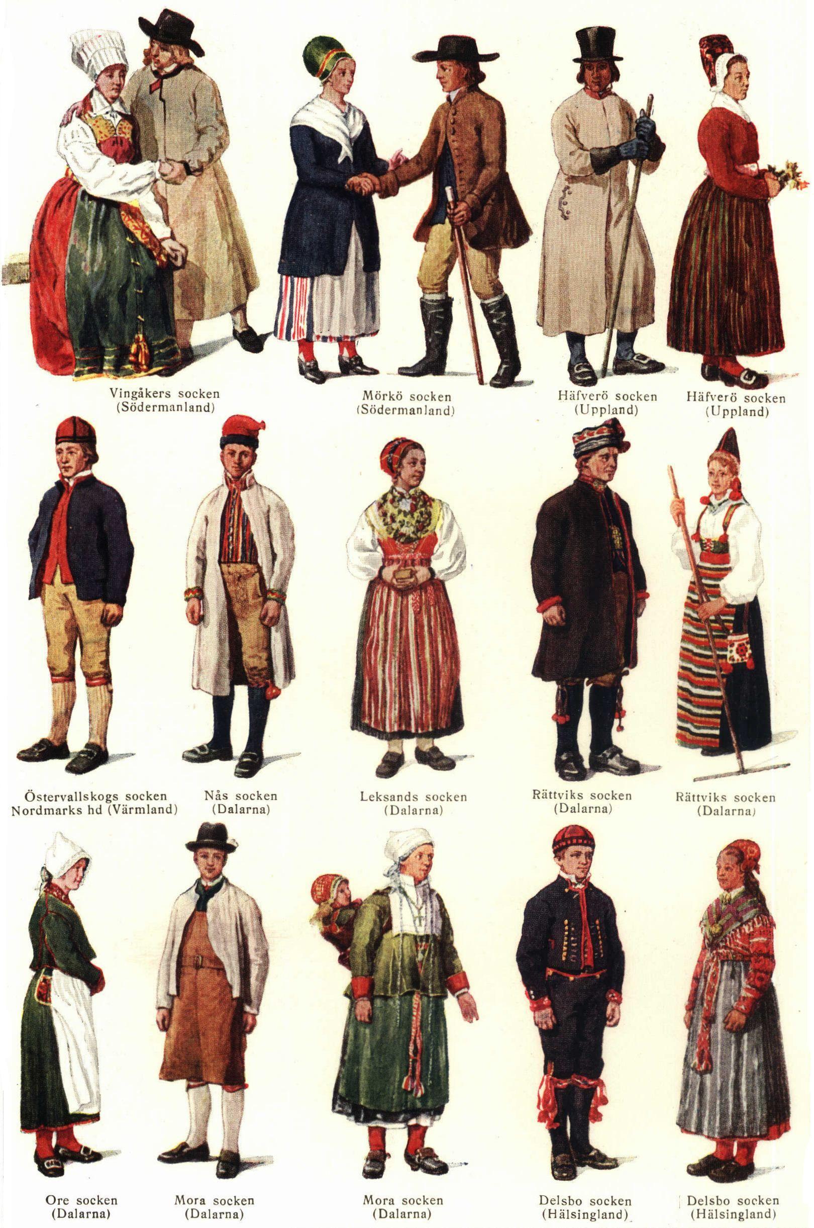 Swedish Folk Costumes Folk Costume Traditional Outfits Scandinavian Costume