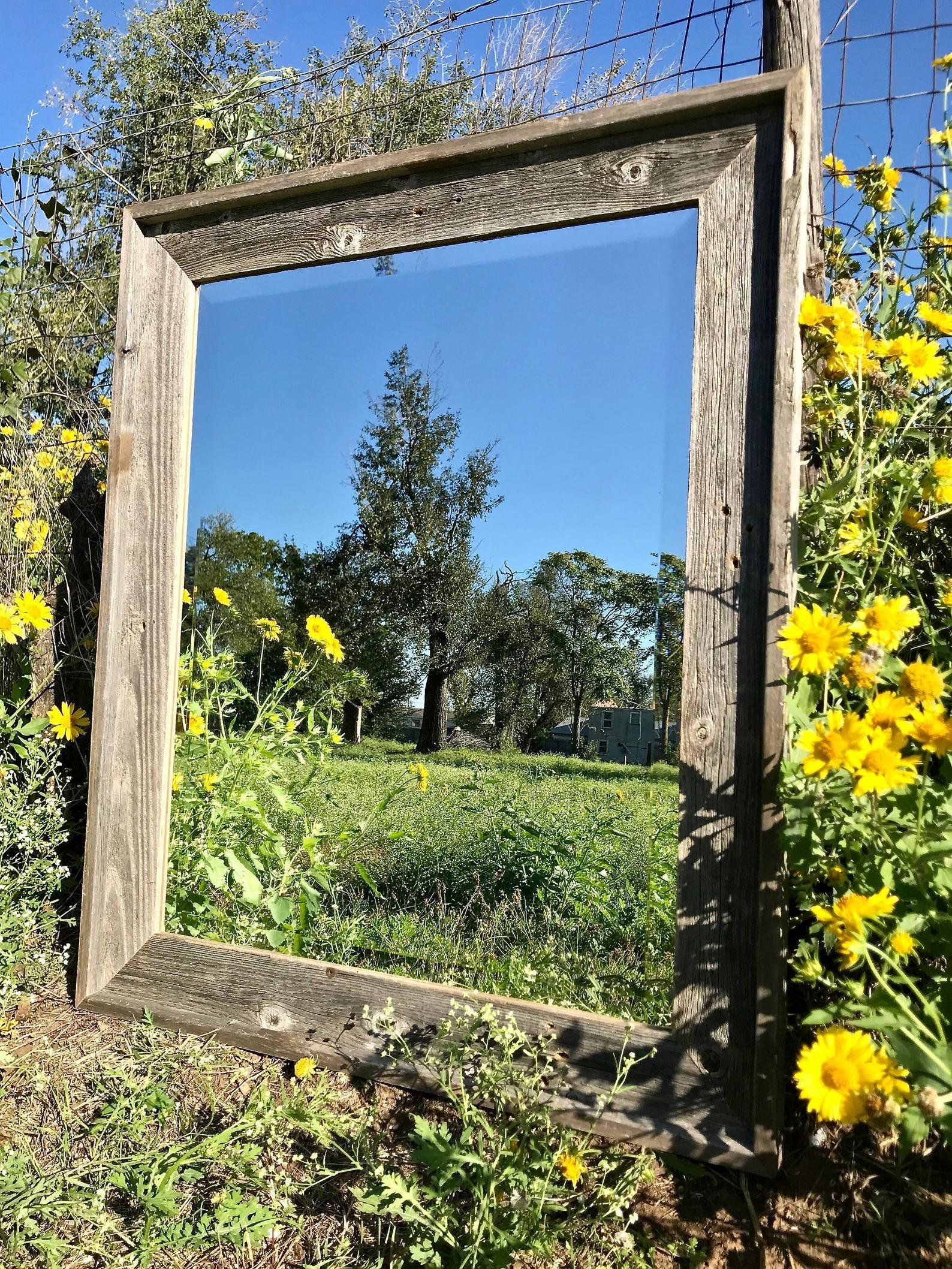 Farmhouse mirror wall mirror wood mirror rustic wood