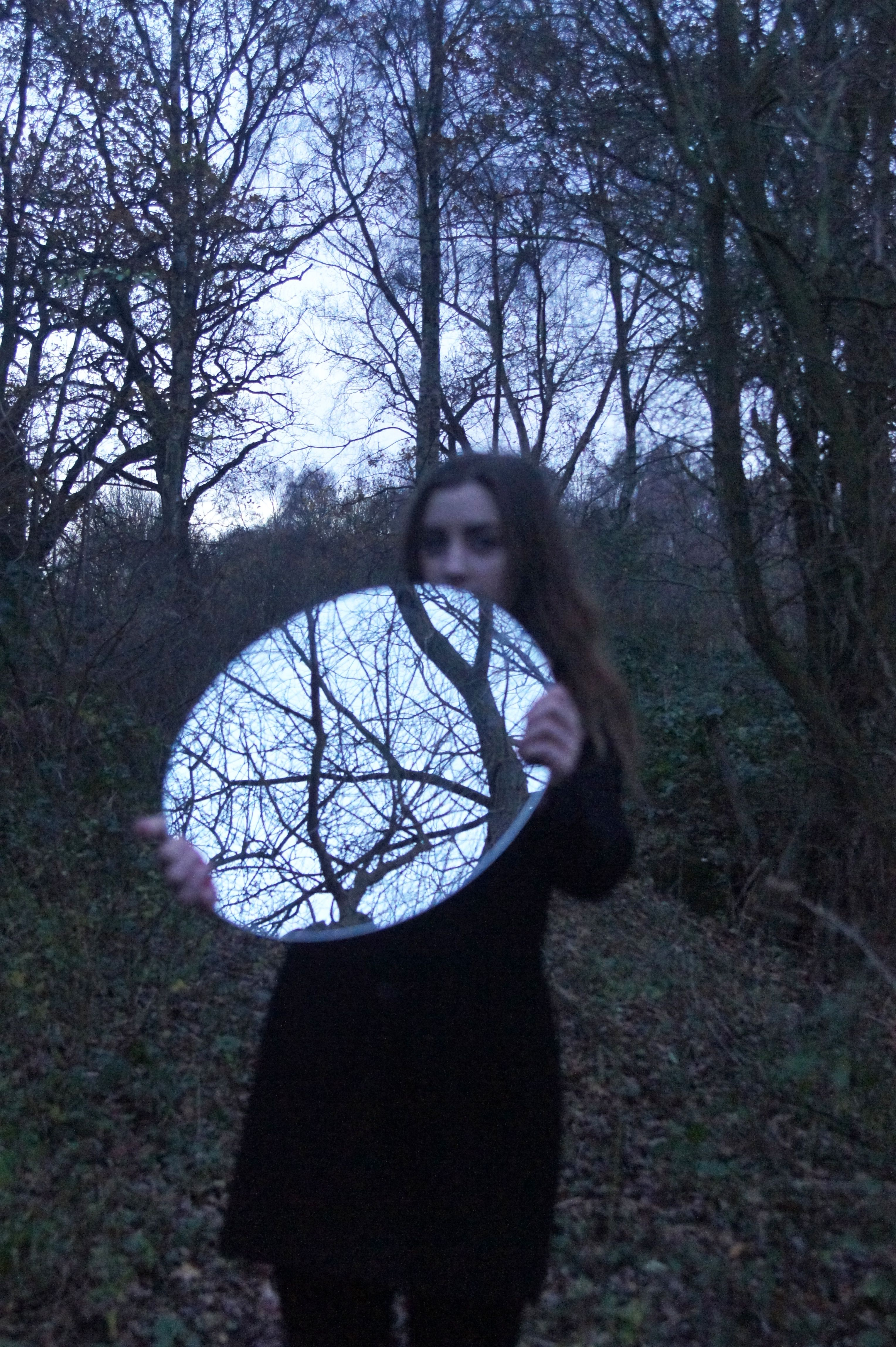 Sara Wisniewska A1F #Photography for Links and Connections project. #Portrait in the #landscape #mirror #reflection