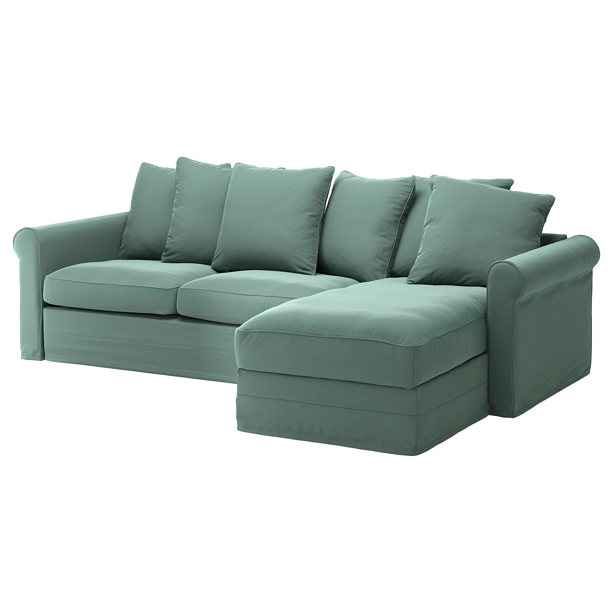 Gr 214 Nlid Sofabed With Chaise Ljungen Light Green