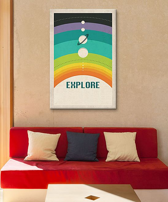 Jazzberry Blue Solar System Wrapped Canvas | zulily
