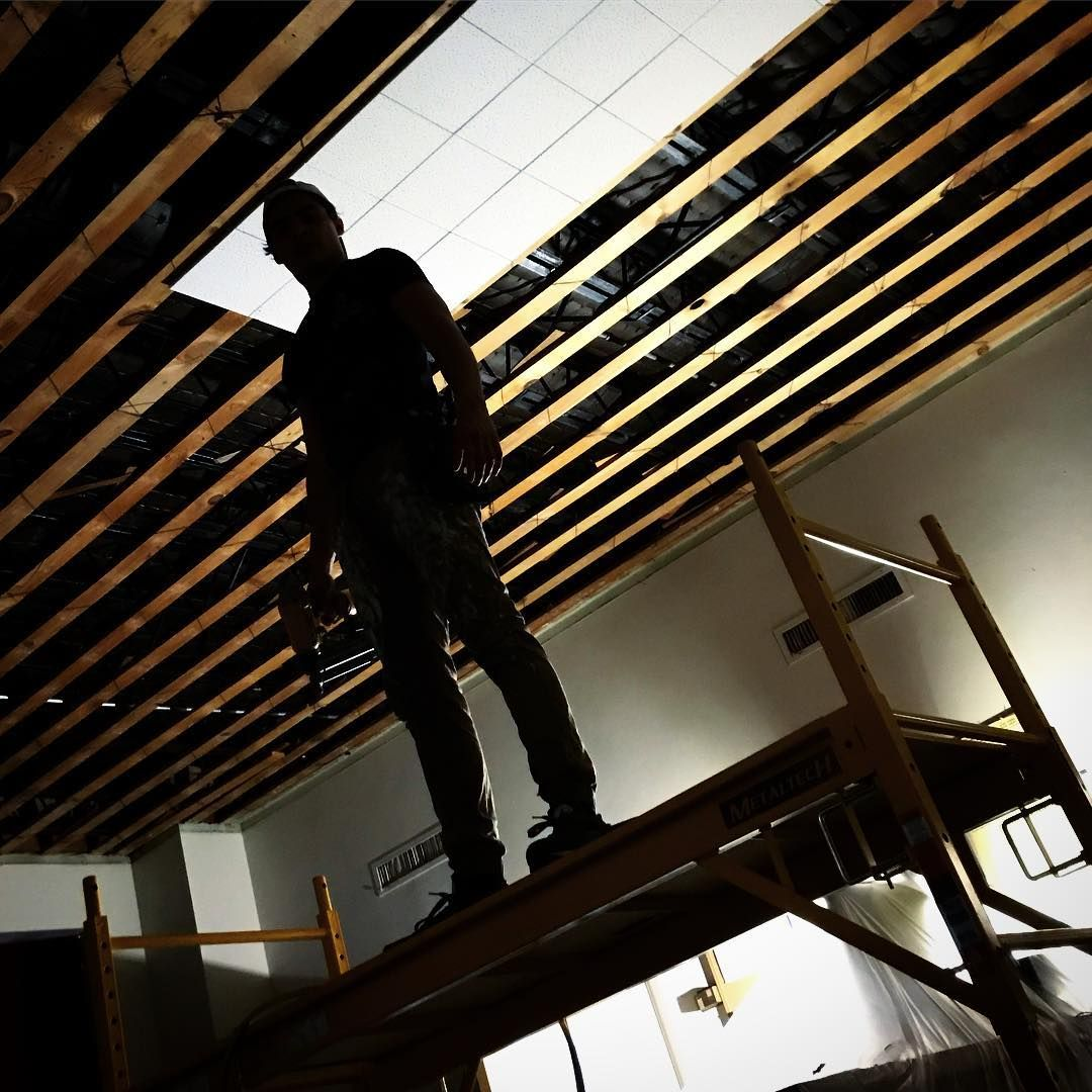 Removing And Installing Ceiling Tile A Few Thousand Sqft Down A Few
