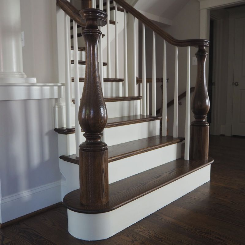 Beautiful Interior Staircase Ideas And Newel Post Designs: Turned Newel Posts In 2020