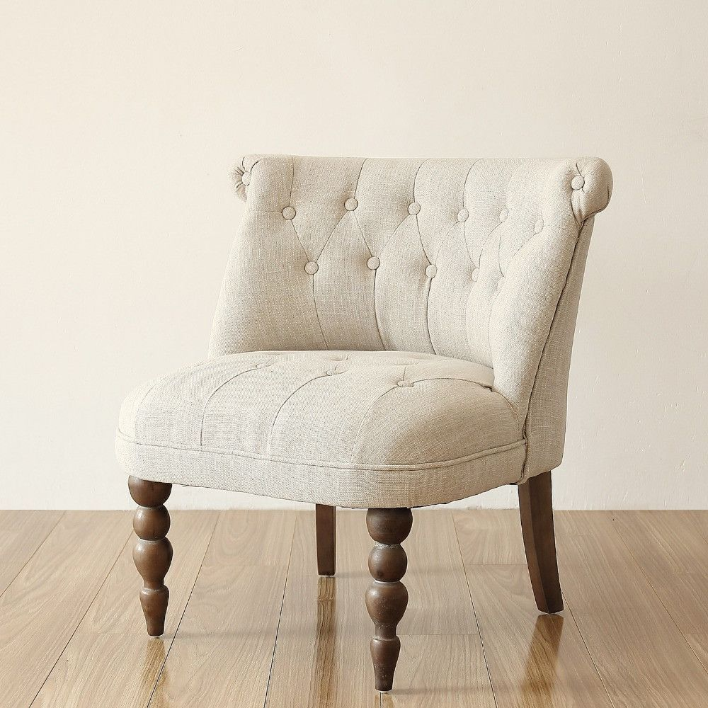 Luxury European Style Vintage Accent Chair Buttom Tufted Cushion ...