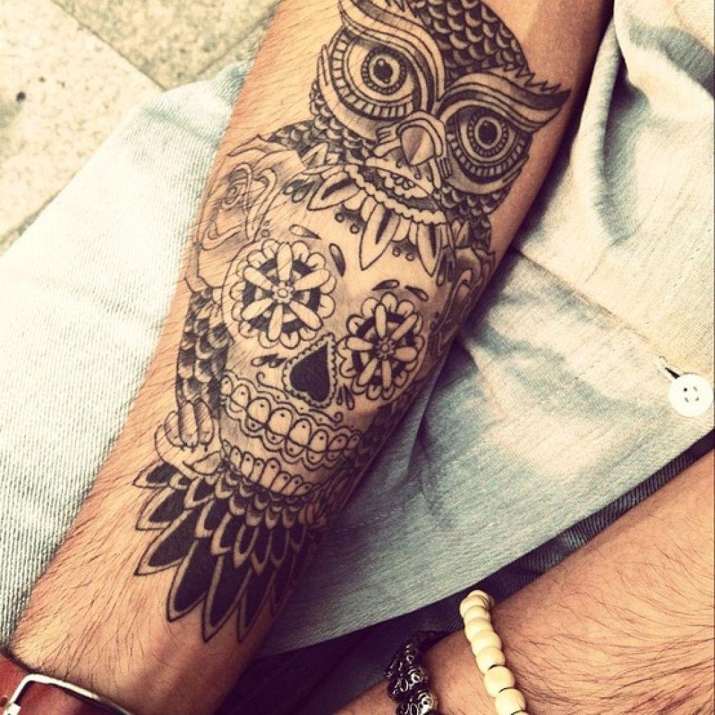 Animal sugar skull tattoo - photo#12