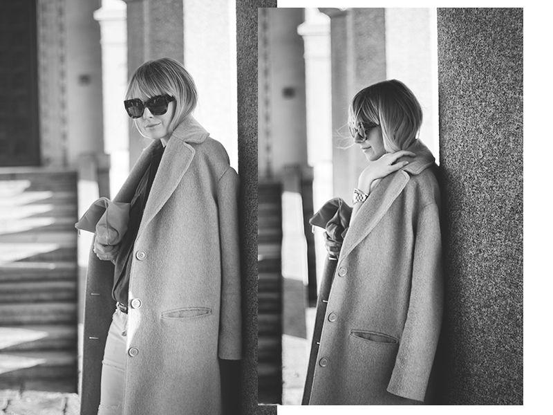Wool coat & sunnies