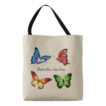 Animated Butterflies Tote Bag