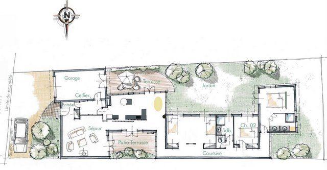 plan de la maison de nantes de fr d ric tabary maisons sur parcelle troite pinterest nantes. Black Bedroom Furniture Sets. Home Design Ideas