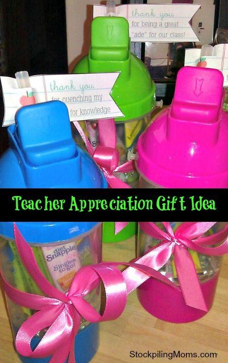 Inexpensive Teacher Reciation Gift Idea