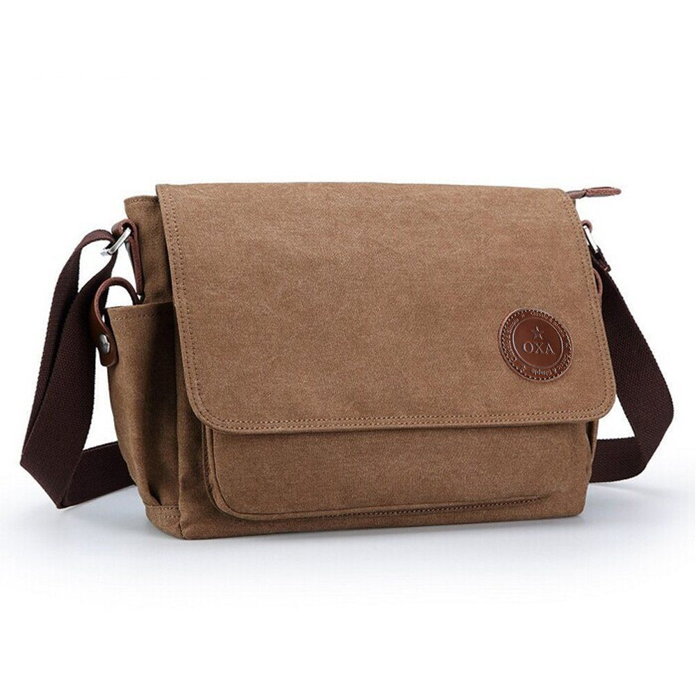 Oxa Durable Fashion Vintage Canvas Messenger Bag Laptop Ipad Bookbag Satchel Crossbody Shoulder Sling Ping Bags Outdoor Sports Travel